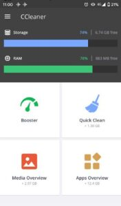 CCleaner APK Android 2021